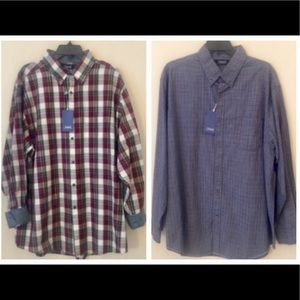 2 Roundtree & Yorke Button Front Shirts NWT